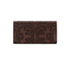 American West Baroque Ladies' Tri-Fold Wallet Front in Chestnut - Lufli Boutique