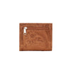 American West Ladies' Bi-Fold Boyfriend Wallet Back of Wallet in Golden Tan at Lufli.com