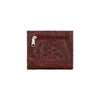 American West Ladies' Bi-Fold Boyfriend Wallet Back of Wallet in Crimson Red at Lufli.com