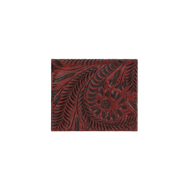 American West Ladies' Bi-Fold Boyfriend Wallet in Crimson Red at Lufli.com