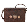 American West Lariat Love Crossbody Flap Bag in Chestnut Brown front of bag at Lufli Boutique