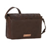 American West Lariat Love Crossbody Flap Bag in Chestnut Brown back of bag at Lufli Boutique