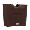 American West Mohave Canyon Large Zip Top Tote Back of Tote in Chestnut Brown | Lufli Boutique