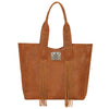 American West Mojave Canyon Large Zip Top Tote in Golden Brown at Lufli.com