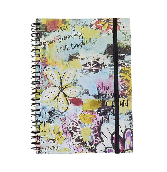 Bops She Believed Hard Back Spiral Notebook at Lufli Boutique