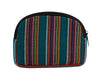 Bops Handmade Guatemala Medium Travel Pouch back of pouch in teal at Lufli Boutique