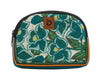 Bops Handmade Guatemala Medium Travel Pouch front of pouch in teal at Lufli Boutique