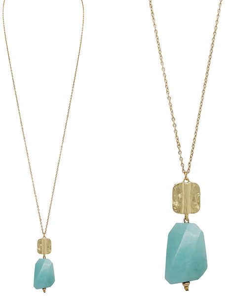 Cadence Necklace - Ocean Blue