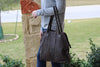 Cut n' Paste Wimbledon Shoulder Bag in Mud Brown on arm of model