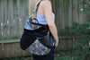 Ella Moss Wildside Genuine Leather Tote Bag Black Style Shot Bag on Model