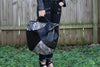 Ella Moss Wildside Genuine Leather Tote Bag in Black shown on model holding bag