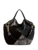 Ella Moss Wildside Genuine Leather Tote Bag exterior of bag in Black