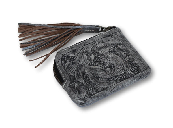Sheridan Tooled Tassel Small Wallet Lufli