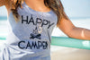 Lazy J Happy Camper Tank Top Style Close Gray - Lufli.com