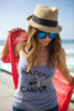 Lazy J Happy Camper Tank Top Style - Gray - Lufli.com