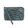 Leaders in Leather Moroccan Leather Wristlet Clutch in Aqua at Lufli Boutique