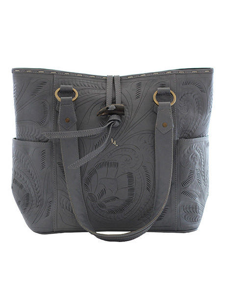 Leaders in Leather Vaquetta Matte Leather Tote in Grey | Lufli.com