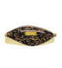 Leaders in Leather Vaquetta Tooled Leather Wristlet Canary Inside