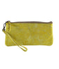 Leaders in Leather Vaquetta Tooled Leather Wristlet Canary