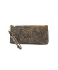 Leaders in Leather Vaquetta Tooled Wristlet in Yellow - Lufli.com