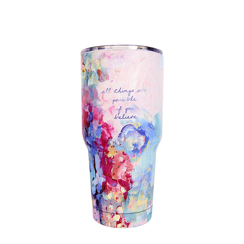 Lufli Bops Have Faith 30 ounce insulated stainless steel Tumbler