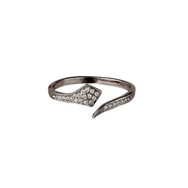 Shashi Jewelry Cobra Pave Adjustable Ring in Black Gold at Lufli.com