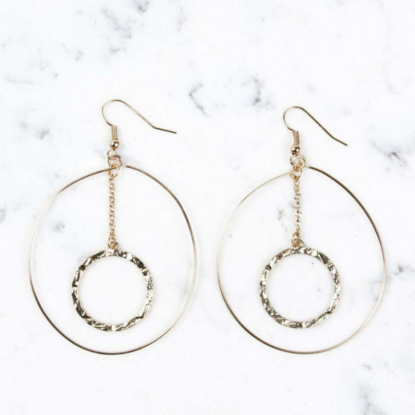 Shira Melody Cecilia Hoop Earrings in Gold at Lufli Boutique