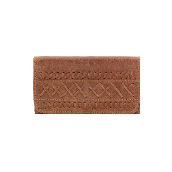 TrueLu Blake Wallet in Clay front of wallet at Lufli Boutique