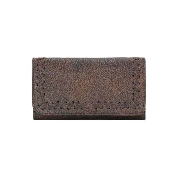 TrueLu Claire Wallet in Walnut front of wallet at Lufli Boutique