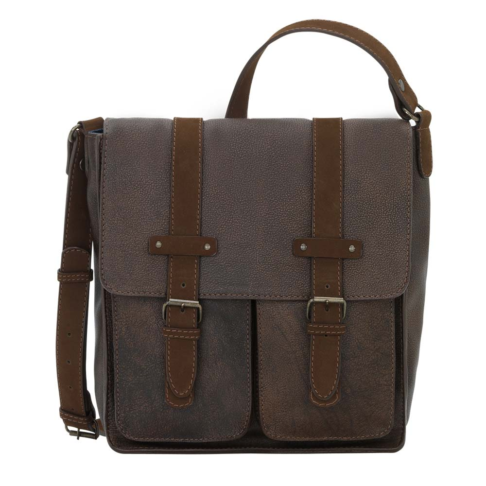 Truelu Jamie Messenger Crossbody Bag front on bag at Lufli Boutique