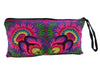 Wabags Artisan Medium Embroidered Wristlet in purple back of wristlet at Lufli Boutique