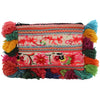 Wabags Vintage Medium Cha Cha Pom Pom Clutch Pouch Back at Lufli.com