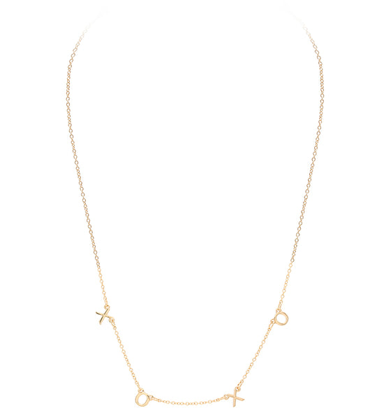 XOXO Letter Necklace - Gold