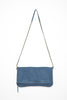 Cut n' Paste Victoria Leather Clutch in Ink Hanging View - Lufli Boutique