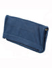 Cut n' Paste Victoria Leather Clutch in ink blue side of bag - Lufli Boutique