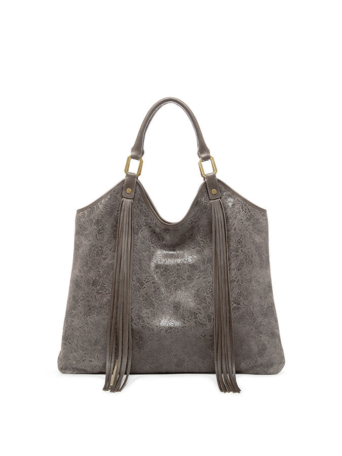 Ella Moss Wanderlust North South Leather Tote Taupe