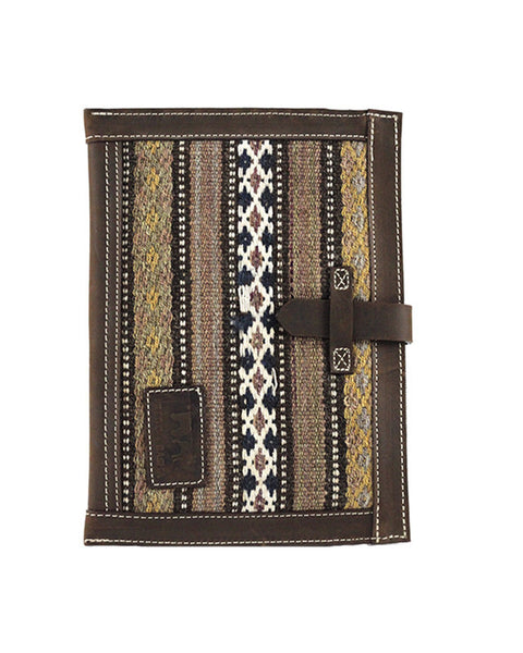 Fredd and Basha Persian Rug iPad Tech Case in Brown front of ipad case