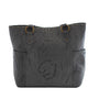 Leaders in Leather Vaquetta Matte Leather Tote Back in Matte Gray | Lufli.com