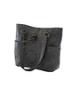 Leaders in Leather Vaquetta Matte Leather Tote Side in Matte Gray | Lufli.com