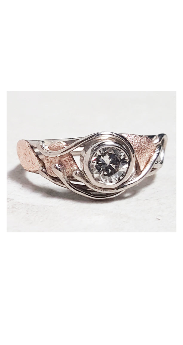 Champagne Diamond in Rose and White gold