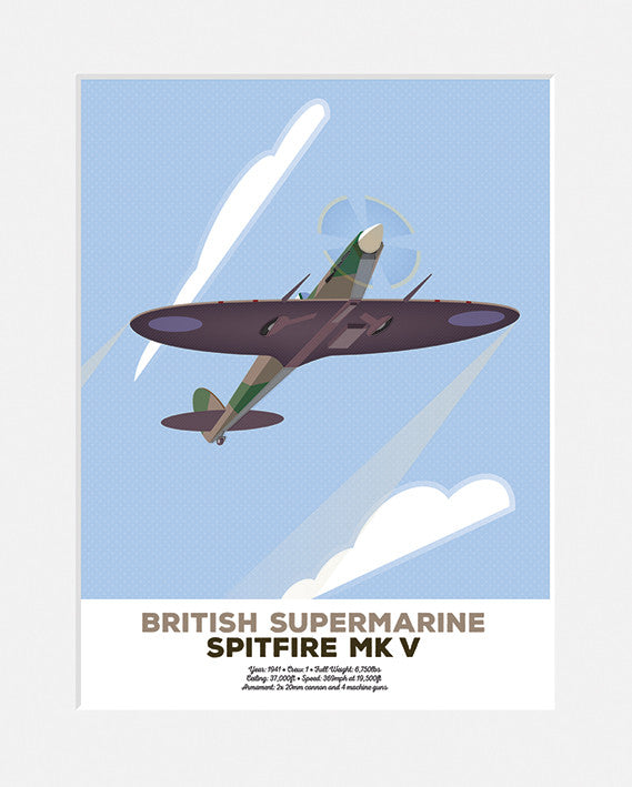 British Supermarine Spitfire MK V <br>Limited Edition Print