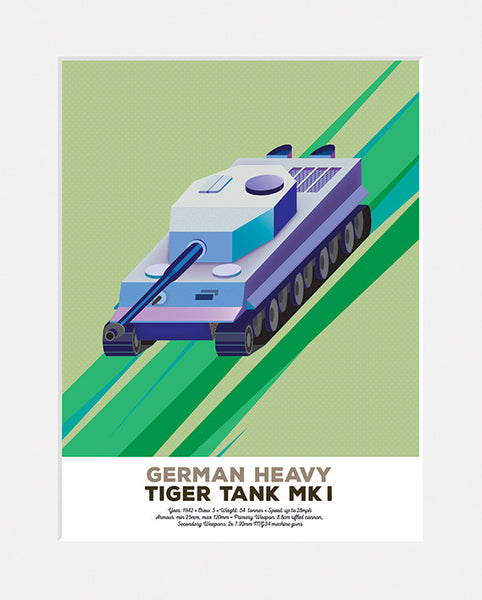 German Heavy Tiger Tank MK I<br>Limited Edition Print