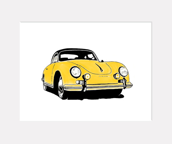 Porsche 356A 1500 GS Carrera Coupé 'Goldfinger' - <br>Limited Edition Print