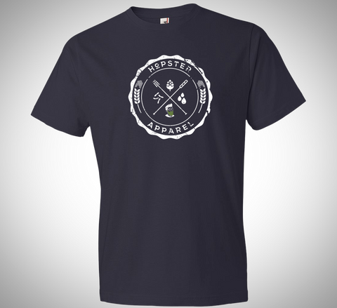 Craft Beer T-Shirt - Navy Craft Beer Ingredients