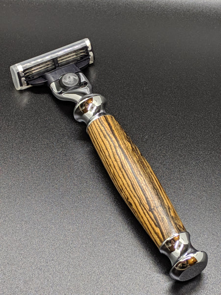 exotic bocote wood catridge razor mach3 compatible