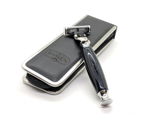 black acrylic cartridge mach3 compatible razor