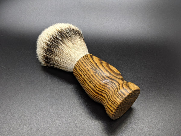 Limited Ed. Bocote Wood - Silvertip Badger Hair Brush