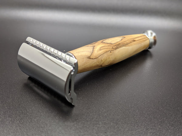 olivewood double edged safety razor