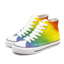 Load image into Gallery viewer, Women's Rainbow Canvas Shoes
