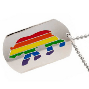 Bear Pride Dog Tag